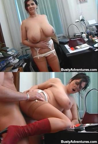 Bozena aka Tiffany Treasures   Big titted Babe Does  Anal Sex HD