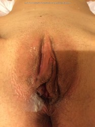 Pussy cream dripping from her cunt